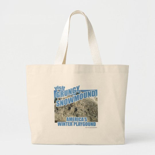 Grungy Snowmound Large Tote Bag