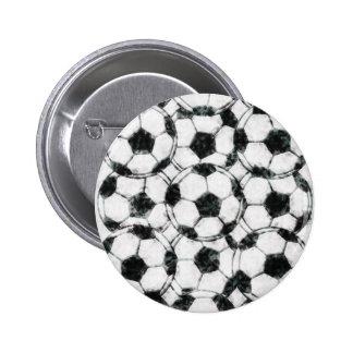 GRUNGY SOCCER BALLS PIN