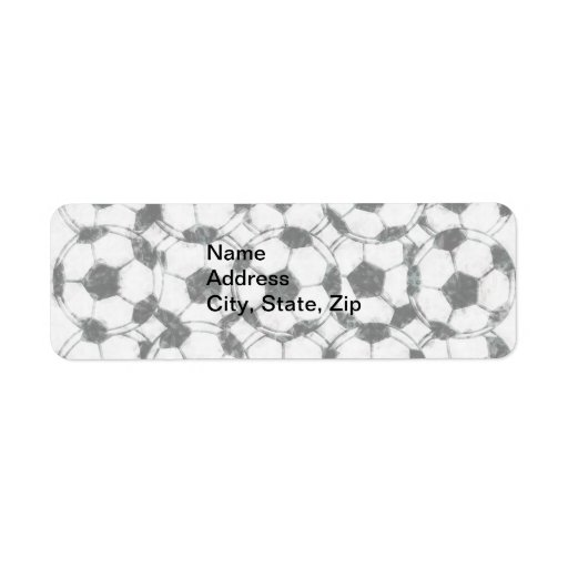 GRUNGY SOCCER BALLS CUSTOM RETURN ADDRESS LABEL