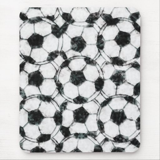 GRUNGY SOCCER BALLS MOUSE PADS