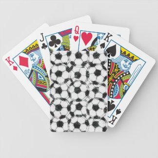 GRUNGY SOCCER BALLS POKER CARDS