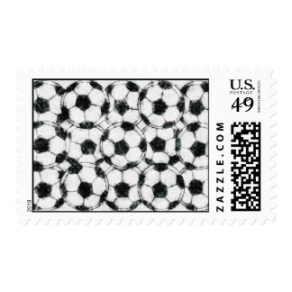 GRUNGY SOCCER BALLS POSTAGE