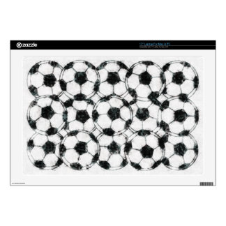 GRUNGY SOCCER BALLS DECAL FOR LAPTOP