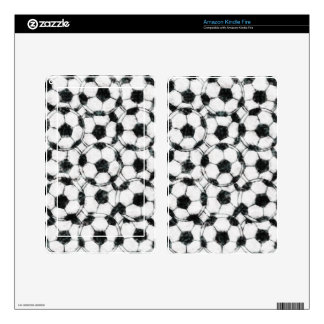 GRUNGY SOCCER BALLS SKIN FOR KINDLE FIRE