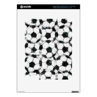 GRUNGY SOCCER BALLS SKINS FOR iPad 3