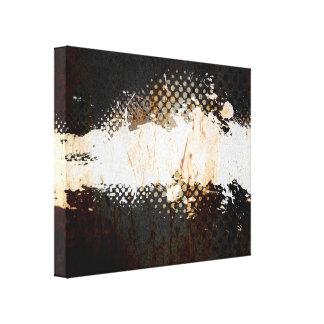 Grungy Splatter Design Stretched Canvas Prints
