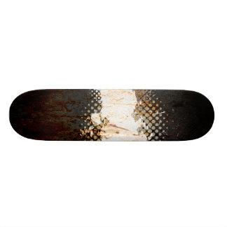 Grungy Splatter Design Skateboard Deck