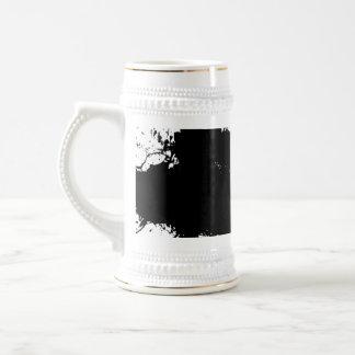 Grungy Splattered Ink Background Beer Stein