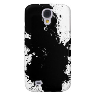 Grungy Splattered Ink Background Samsung Galaxy S4 Cases