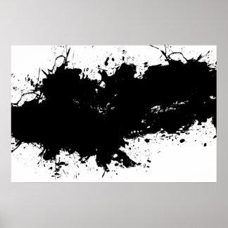 Grungy Splattered Ink Background Poster