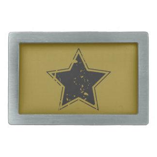 Grungy Star - military Rectangular Belt Buckle