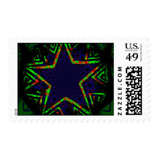 Grungy Star Postage Stamp