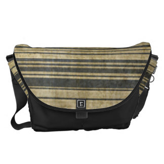 Grungy Static Stripe Pattern Courier Bag