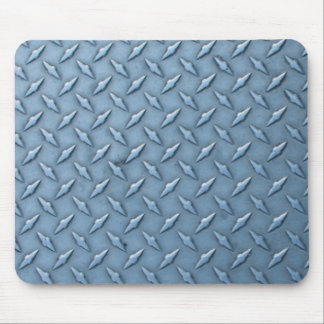 Grungy steel diamond grid plate mouse pad
