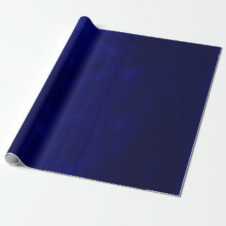 Grungy Styled Smudge Dark Blue Wrapping Paper