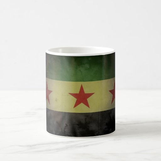 Grungy Syria Flag Coffee Mugs
