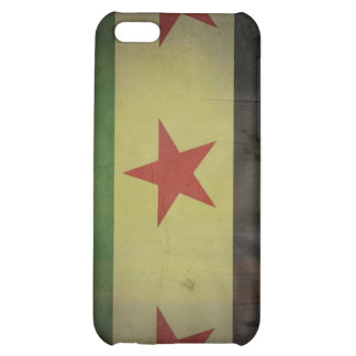 Grungy Syria Flag Cover For iPhone 5C