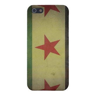 Grungy Syria Flag Cover For iPhone SE/5/5s