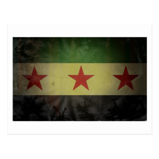 Grungy Syria Flag Postcard