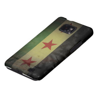 Grungy Syria Flag Samsung Galaxy S2 Case