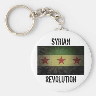 "Grungy Syria Flag ""Syrian Revolution"" Keychain"