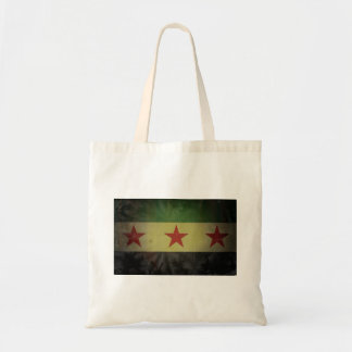 Grungy Syria Flag Tote Bag