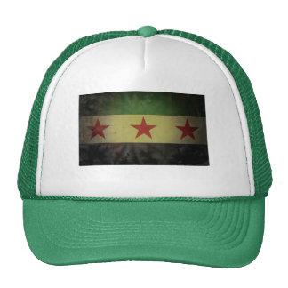 Grungy Syria Flag Trucker Hat