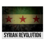 "Grungy ""Syrian Revolution"" Syria Flag Poster"