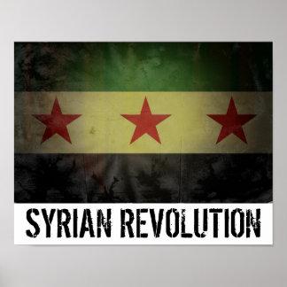 "Grungy ""Syrian Revolution"" Syria Flag Poster"