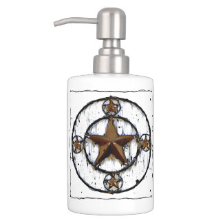 GRUNGY TEXAS STAR BATHROOM SET