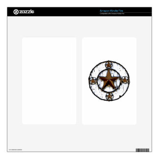 GRUNGY TEXAS STAR DECAL FOR KINDLE FIRE