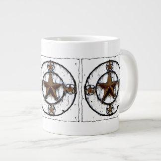 GRUNGY TEXAS STAR GIANT COFFEE MUG