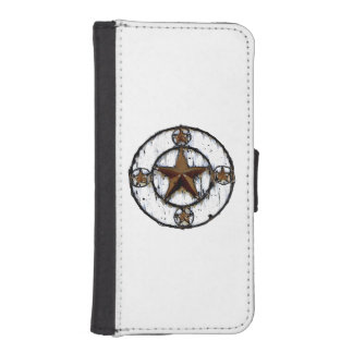 GRUNGY TEXAS STAR iPhone SE/5/5s WALLET