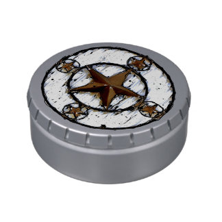 GRUNGY TEXAS STAR JELLY BELLY TINS