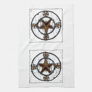 GRUNGY TEXAS STAR HAND TOWELS