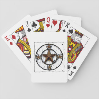 GRUNGY TEXAS STAR POKER CARDS