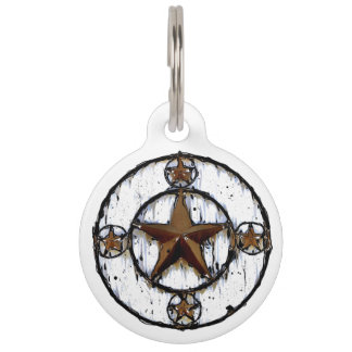GRUNGY TEXAS STAR PET TAG
