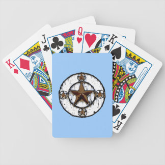 GRUNGY TEXAS STAR BICYCLE POKER CARDS