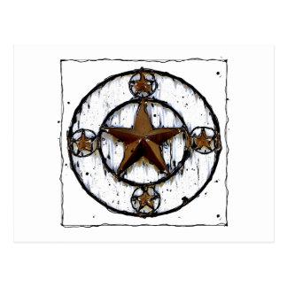 GRUNGY TEXAS STAR POSTCARD