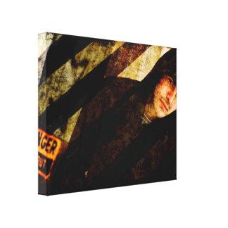 Grungy Tough Textured Gallery Wrap Canvas
