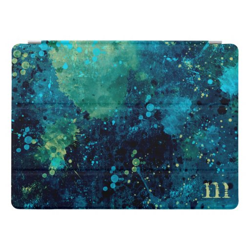 Grungy Turquoise and Yellow iPad Pro Cover
