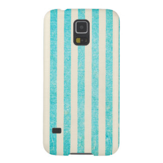 Grungy Turquoise Stripes Tiffany Blue Rustic Galaxy S5 Cover