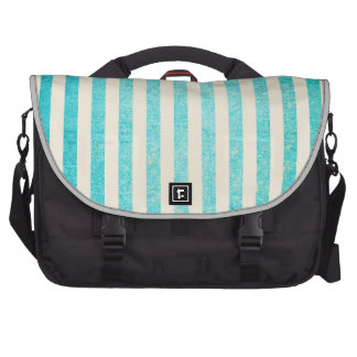 Grungy Turquoise Stripes Tiffany Blue Rustic Bags For Laptop