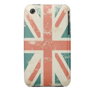 grungy UK flag iPhone 3 case