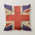 Grungy UK flag (Union Jack) Throw Pillow