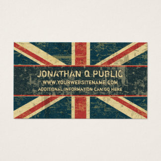 Grungy Union Jack Business Card