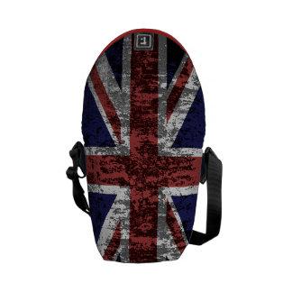 Grungy Union Jack Flag Courier Bag