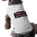 Grungy Union Jack Flag Doggie Tee