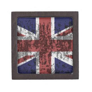 Grungy Union Jack Flag Gift Box