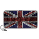 Grungy Union Jack Flag Notebook Speakers